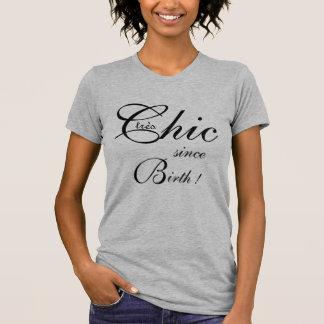 "CHIC T_""tres Chic since Birth!""_BLACK/GRAY T-Shirt"