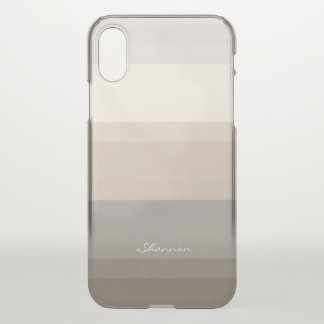 Chic Taupe, Cream and Grey striped iPhone case