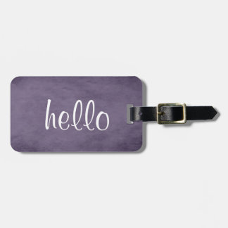 Chic Textured Purple Luggage Tag