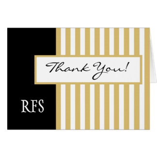 CHIC THANK YOU NOTE_GOLD/BLACK/WHITE CARD