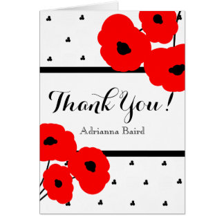 CHIC THANK YOU NOTE_MO0 1 RED POPPIES CARD