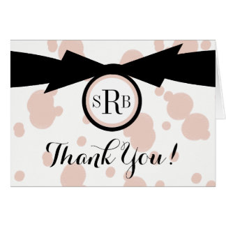 CHIC THANK YOU NOTE_MODERN PINK/BLACK/WHITE CARD