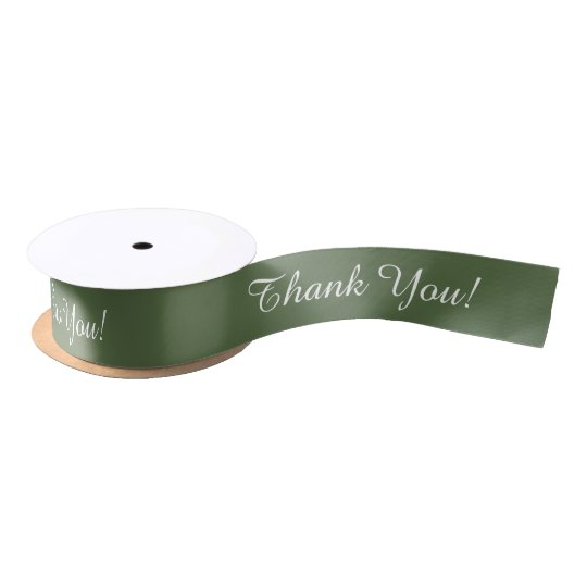 "CHIC ""Thank You!"" PANTONE 2017_KALE Satin Ribbon"