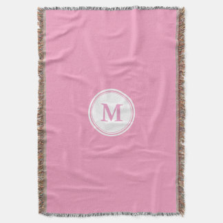 CHIC THROW_247 PINK/WHITE THROW BLANKET