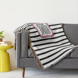 CHIC THROW_HOME ZIPCODE STRIPES THROW