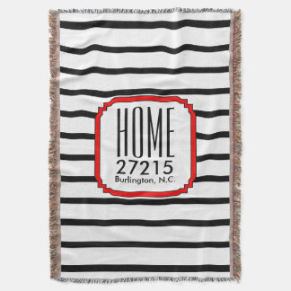 CHIC THROW_HOME ZIPCODE STRIPES THROW BLANKET