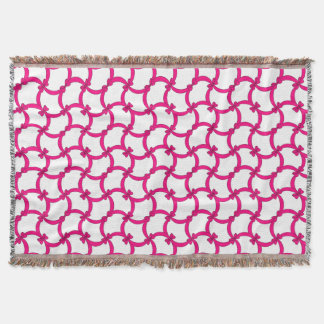 CHIC THROW_MODERN HOT PINK BOWS THROW BLANKET
