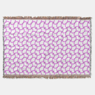 CHIC THROW_MODERN LILAC BOWS THROW BLANKET