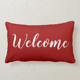 """CHIC THROW PILLOW_""""Welcome"""" Lumbar Pillow"""