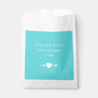 Chic Tiffany Blue Heart and Arrow Favour Bag