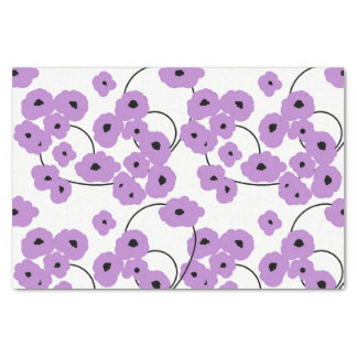 CHIC TISSUE PAPER_MOD LAVENDER & BLACK POPPIES TISSUE PAPER