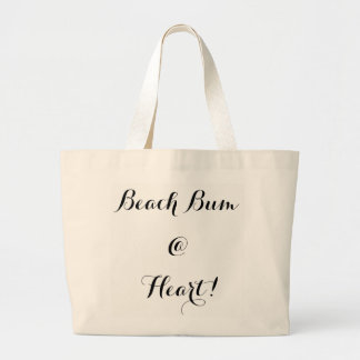 """CHIC TOTE_"""" BEACH BUM @ HEART!"""" LARGE TOTE BAG"""