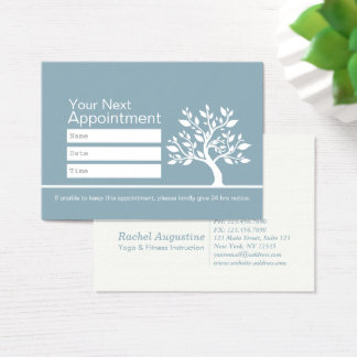 Chic Tree YOGA Instructor Life Coach Appointment Business Card