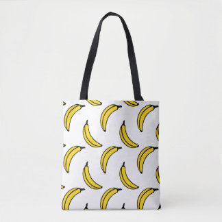 Chic Trendy Banana Pattern Tote Bag
