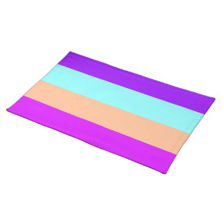Chic Tropical Stripes Placemats Place Mat