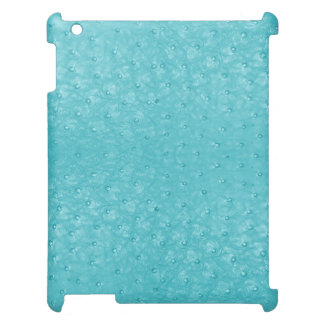 Chic Turquoise Ostrich Leather Look iPad Case