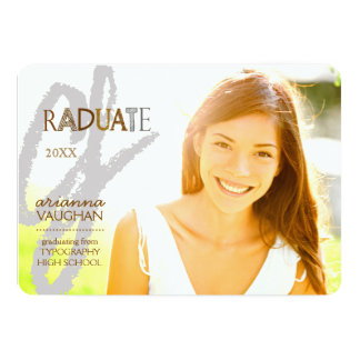 Chic Typography Photo Graduation Card