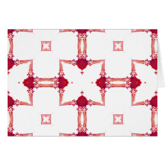 Chic Urban Magenta White Gold Designer Fretwork NT Card