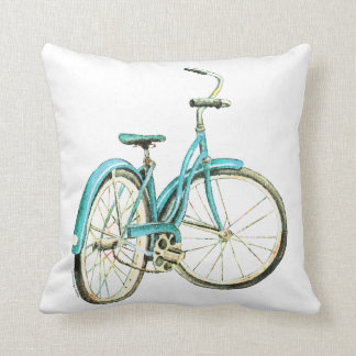 Chic vintage bicycle pillow