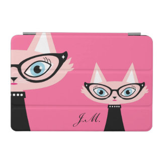 Chic Vintage Cat iPad Mini Cover - Pink