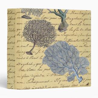 Chic Vintage Coral Paris decorative binder