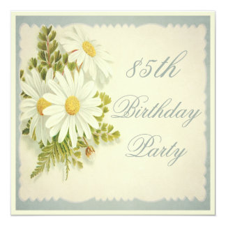 Chic Vintage Daisies 85th Birthday Card