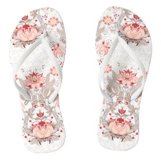 Chic Vintage Floral Pattern Woman Flip Flop