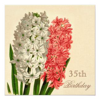 Chic Vintage Hyacinths 35th Birthday Card