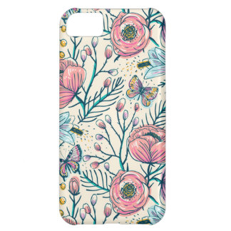 Chic Vintage Pink Rose Flower iPhone 5C Case
