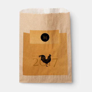 Chic Vintage Rooster Chinese New Year 2017 Favor B Favour Bag
