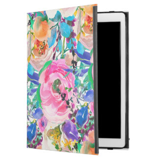 "Chic Watercolor Colorful Spring Flowers iPad Pro 12.9"" Case"