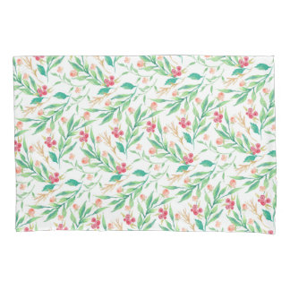 Chic watercolor floral pattern/Christmas Pillowcase