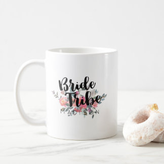 Chic Watercolor Floral Wedding Bride Tribe Coffee Mug