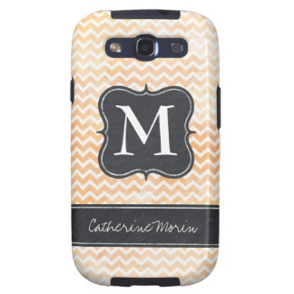 Chic Watercolour Monogram Phone Cover Galaxy S3 Cover