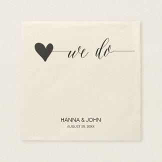 chic wedding paper napkins | calligraphy serviette