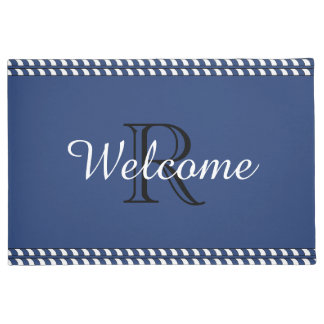 "CHIC ""WELCOME"" DOOR MAT_WITH MONOGRAM DOORMAT"