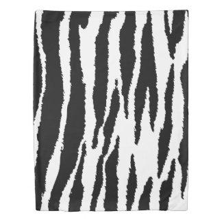 Chic White & Black Zebra Stripes Duvet Cover