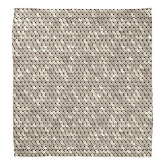 Chic White Gold Faux Sequins Graphic Print Do-rag
