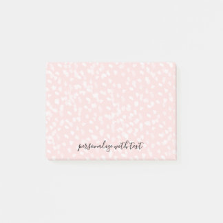 Chic White Pink Spots Post-it Notes