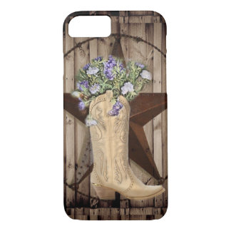 Chic Wildflower Texas Star Western country cowgirl Case-Mate iPhone Case