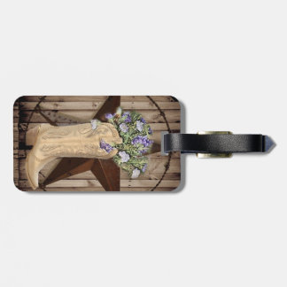 Chic Wildflower Texas Star Western country cowgirl Luggage Tag