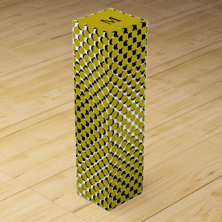 CHIC WINE GIFT BOx_191 GOLDEN YELLOW/BLACK DOTS Wine Boxes