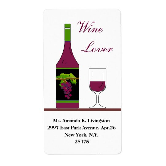 CHIC WINE LABEL_WINE LOVER