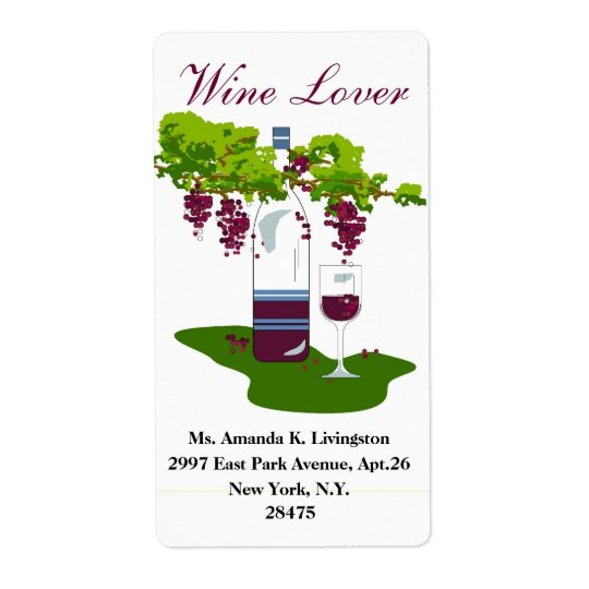 CHIC WINE LABEL_WINE LOVER SHIPPING LABEL