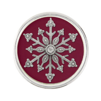 Chic Winter Wedding Snowflake Tie Pin Lapel Pin