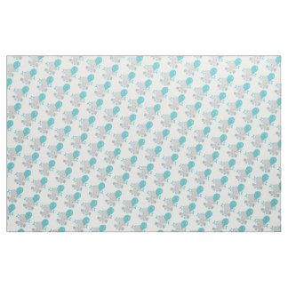 Chic Wood Teal Elephant Gender Neutral Baby Fabric