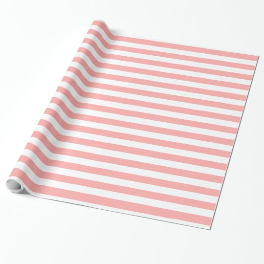 CHIC WRAPPING PAPER_04 BLUSH PINK/WHITE STRIPES