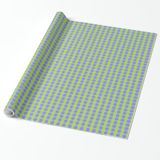 CHIC WRAPPING PAPER_171 PERIWINKLE/60 GREEN DOTS