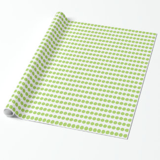 CHIC WRAPPING PAPER_60 GREEN DOTS