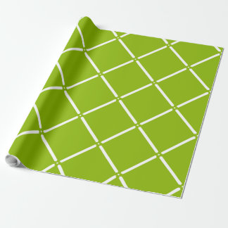 CHIC WRAPPING PAPER_92 GREEN/WHITE LATTICE